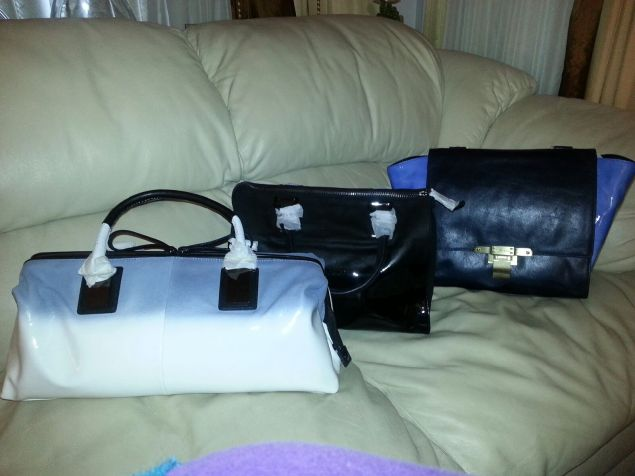 She ended up buying 3 designer bags!!